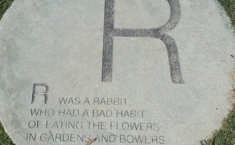 Part of the alphabet in Palmer Park