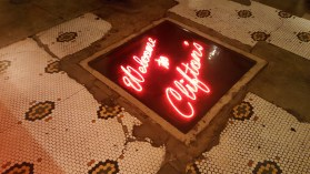 Other than a few blackouts and air raid drills during WW2, this neon sign has always been on at Clifton's