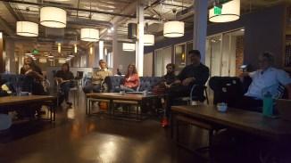 A part of the crowd at the Pasadena WordPress Meetup