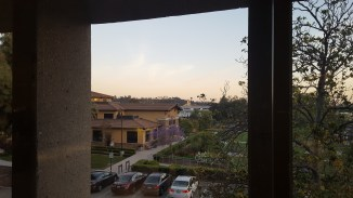 View of South Glendale as the sun sets over the refurbished library