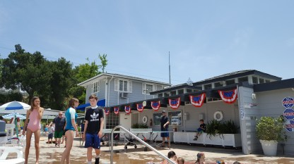 Gerrish decorated with bunting on Memorial Day