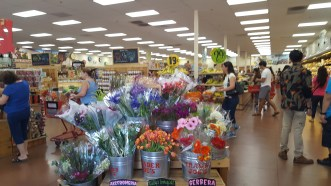 Flowers at Trader Joe's