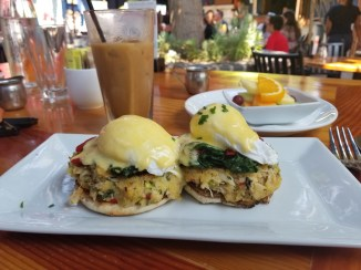 The crab benedict looks and tastes as good as it sounded