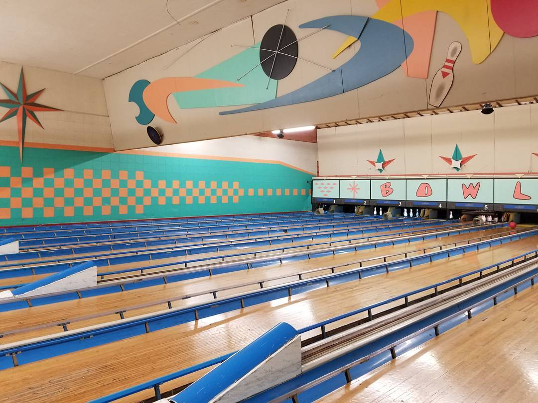 The definition of old school bowling