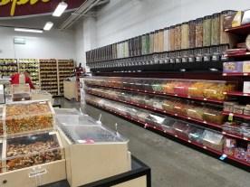 A brighter, cleaner bulk goods aisle here
