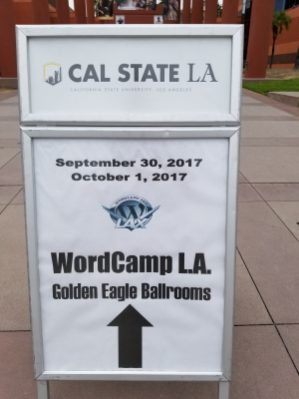 The path to the camp is well signed! Thanks WordCamp organizers.