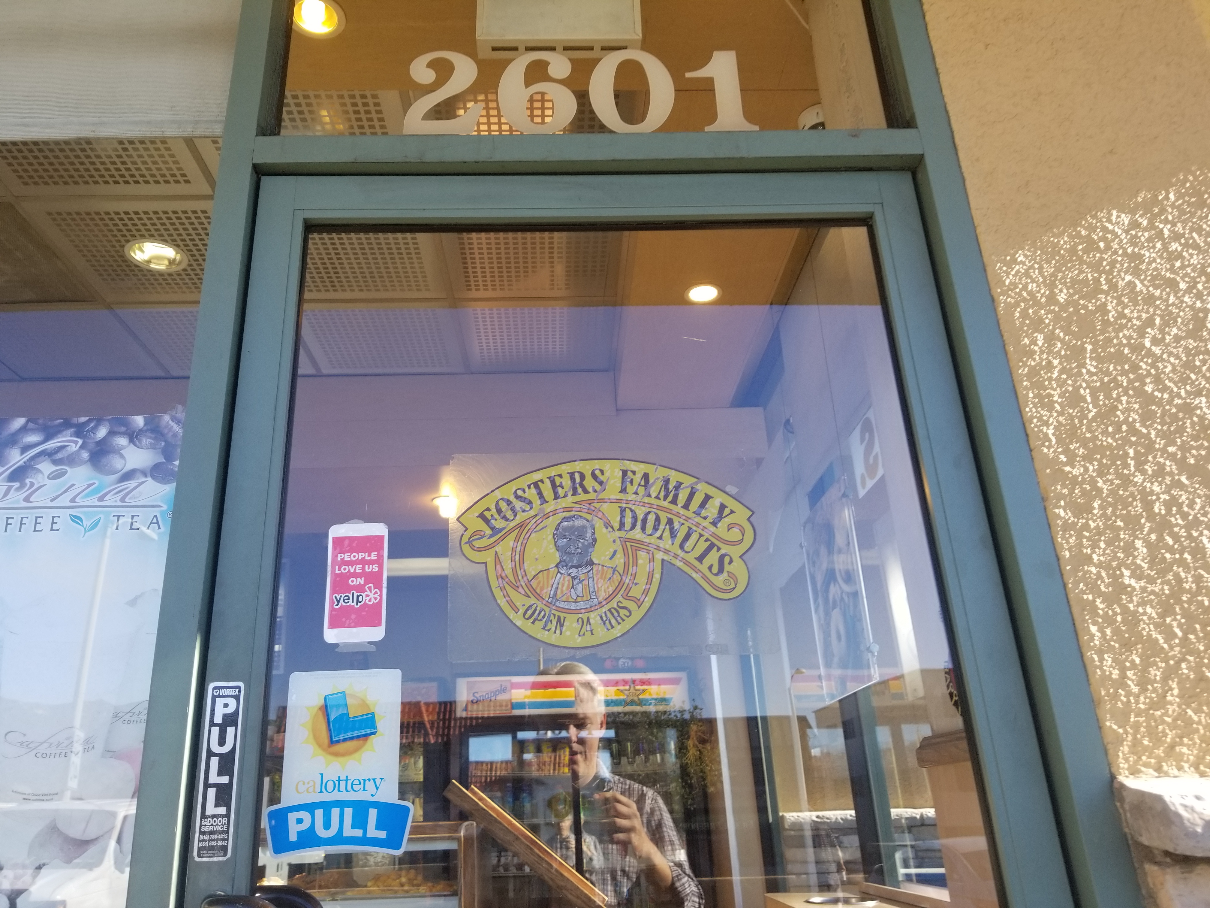 What a great logo on the door.