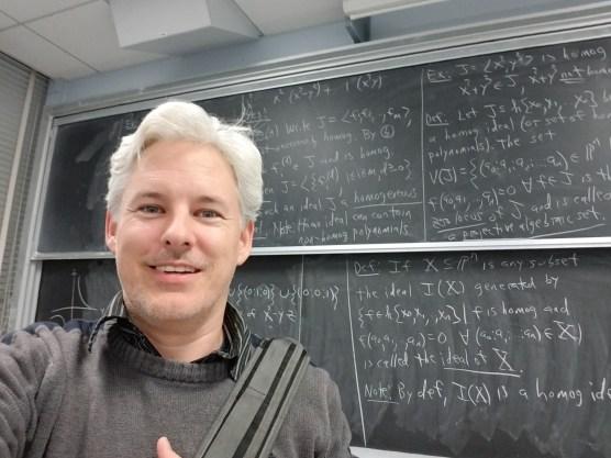 Selfie after Algebraic Geometry Class
