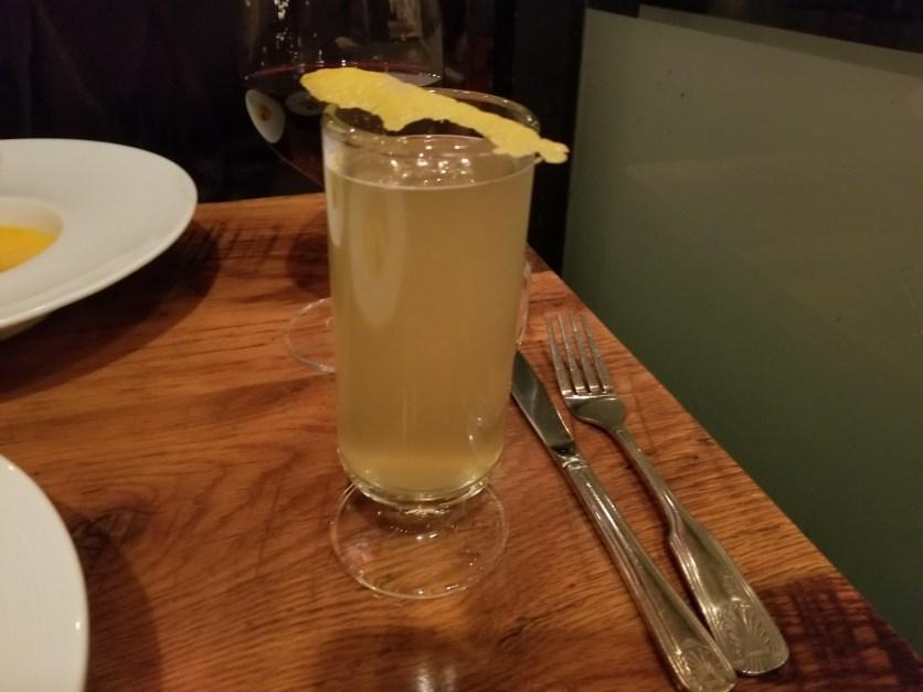 Cloverfield Toddy: clove infused vodka, gingersnap liqueur, honey, lemon, heavy cream, nutmeg