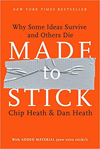 📗 Read pages i-62 of Made to Stick: Why Some Ideas Survive and Others Die by Chip Heath & Dan Heath
