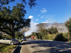 The fire is apparently down in Eaton Canyon