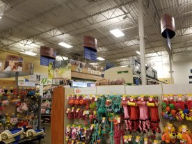 Dog section in PetSmart
