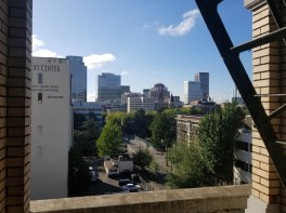 A view onto Portland from the Hotel deLuxe