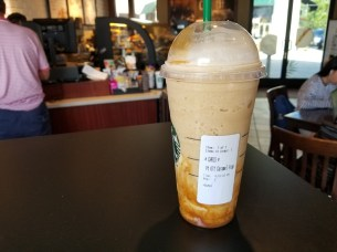 """Trying out the new """"Ultimate"""" Caramel Frappuchino"""