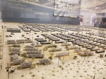 Scale model of the Manzanar internment camp