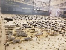Scale model of the Manzanar internment camp