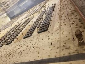 A scale replica of Manzanar