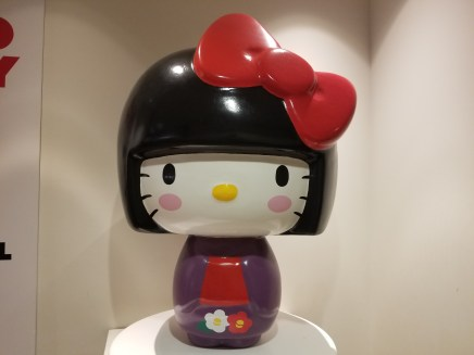 A massive Hello Kitty statue inside the Japanese American National Museum