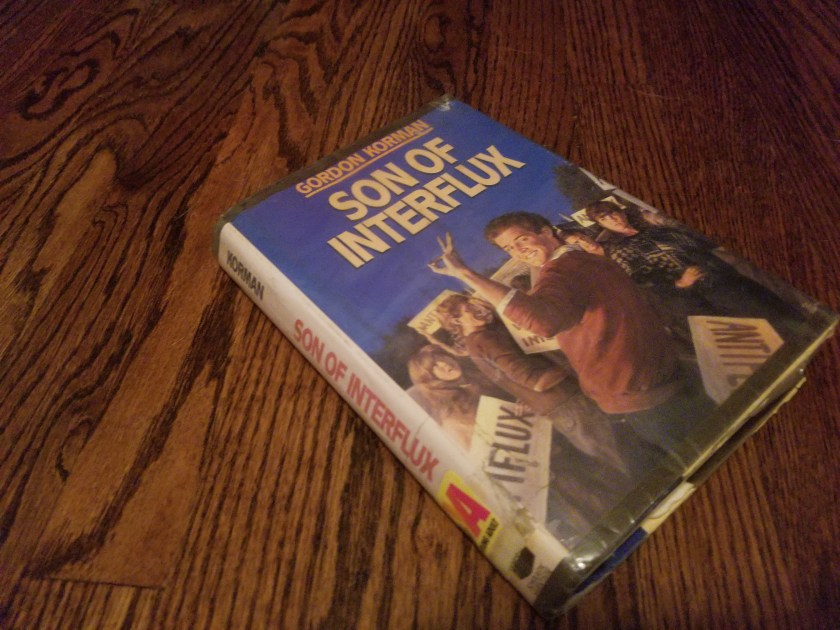 Library copy of the cover of Son of Interflux by Gordon Korman