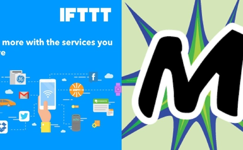 Using IFTTT to syndicate (PESOS) content from social services to WordPress using Micropub