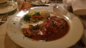 Veal saltimbocca. What else would you have at a place like this.