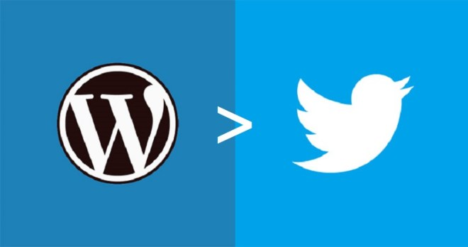 Wordpress > Twitter in logos