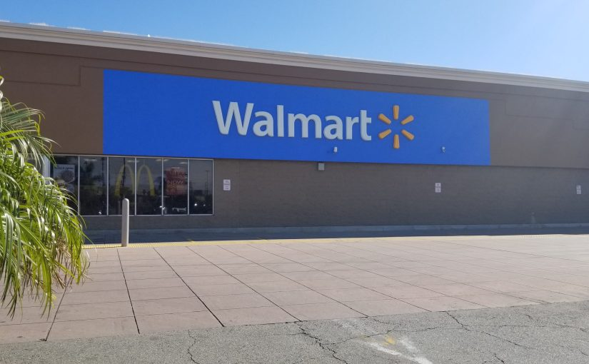 Walmart sign on the exterior of the store