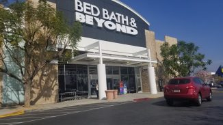 angle on the exterior of Bed, Bath & Beyond
