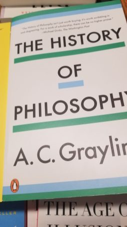 copy of hardback book History of Philosophy by A.C Graylin