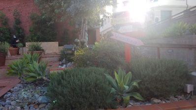 garden area just outside of Vroman's front door