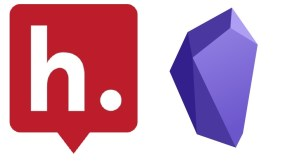 the Hypothes.is quote bubble icon next to the purple obsidian gem-like icon
