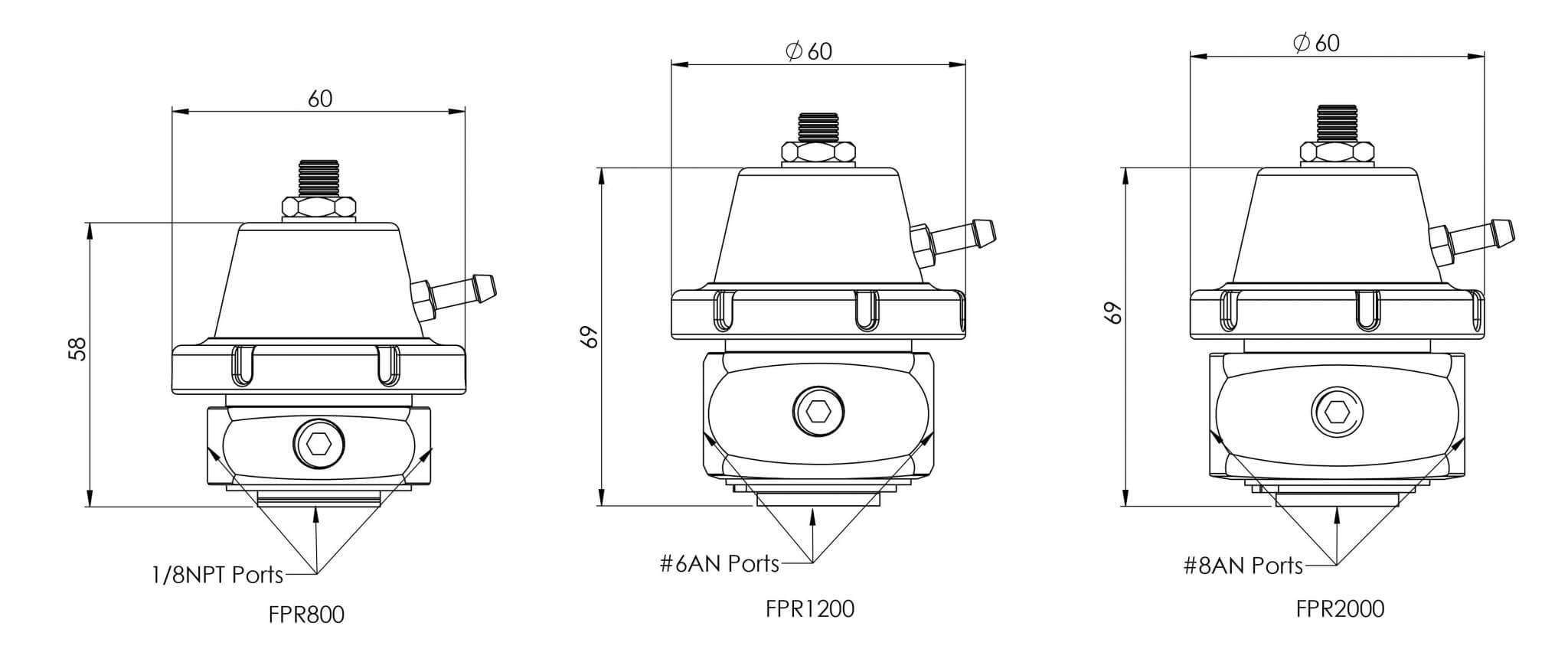 Turbosmart Fuel Pressure Regulator Fpr800