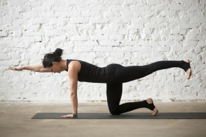 woman doing yoga poses
