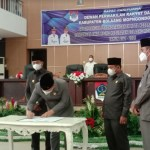 DRPD dan Pemkab Boltim Gelar Paripurna Penandatanganan Nota Kesepakatan RPJMD Tahun 2021-2026