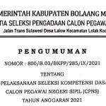 Tes SKD CPNS Bolmong Dipastikan Digelar Bulan September Ini, Yuk Simak Syarat dan Kewajiban Peserta