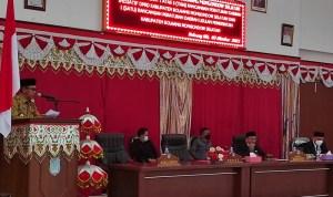 DPRD Bolsel Gelar Paripurna Pembicaraan Tingkat Satu atas Tiga Ranperda Inisiatif dan Ranperda Usulan Pemda