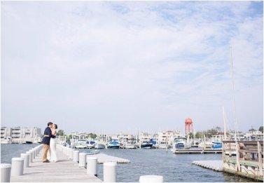 yacht club wedding portrait