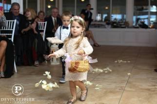 Flower girl NJ beach wedding