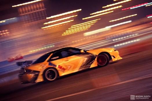 Drifting in night lights