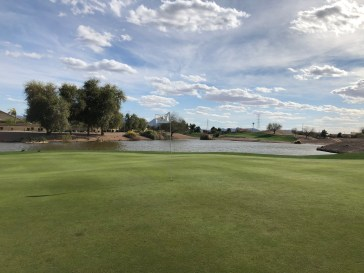 Side view from 8th green.