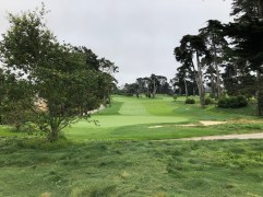 This is actually a brief look at part of the Ocean Course while walking between the 15th green and the 16th tee of Lake.