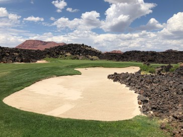 Closer view of 16th green.
