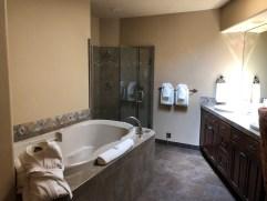 Swanky bathroom.