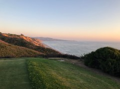 Looking down the coastline from the back tees of 16th.