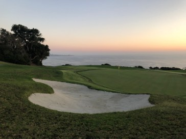 Another nice sunset view of 16th while walking up the hill toward the 17th tee.