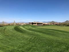 Side view of 16th green.