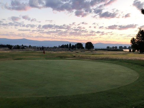 Behind 1st green as the sun slowly rises.