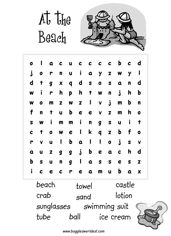 Easy Thanksgiving Word Search Kindergarten