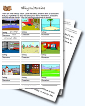 The Setting Of A Story Worksheets