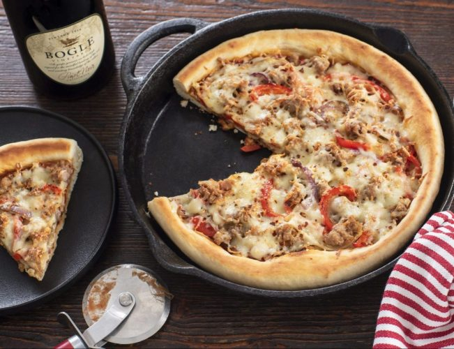 Cast Iron Sausage and Fennel Pizza